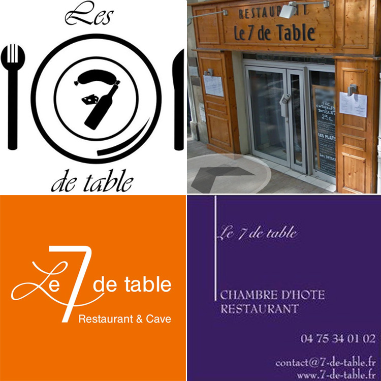 un, deux, trois, quatre, cinq, six 7 de table à travers toute la